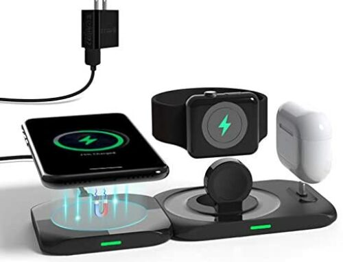 Wireless Charger,4 in 1 Charging Station Compatible for Apple Watch, Airpods Pro/Airpods,MagSafe Fast Charging Pad for iPhone 13/12/Pro/Pro Max/Mini